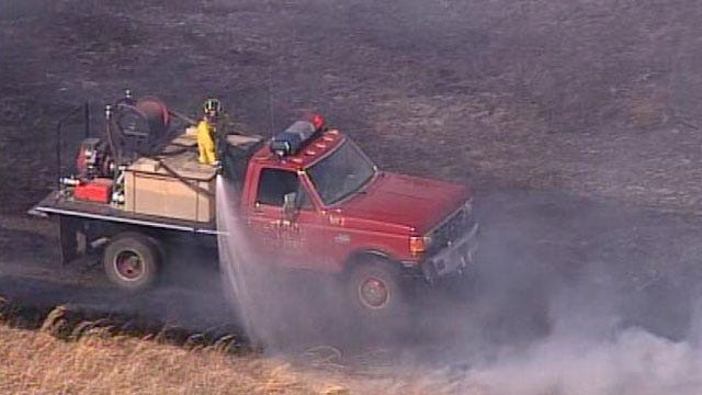 Green Country Grassfires Wednesday Force Evacuations, Threaten Homes