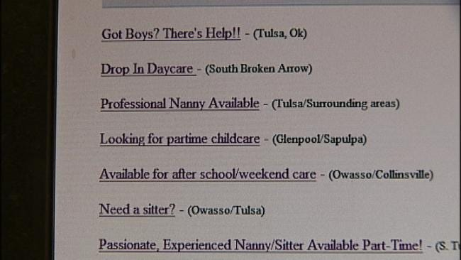 Online Babysitter Ads Could Put Green Country Parents, Kids At Risk