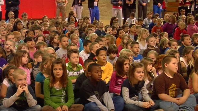 Trav's Wild Weather Camp Invades Bixby Elementary