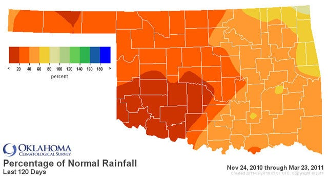 Extreme Drought Reported In Central, SW Oklahoma