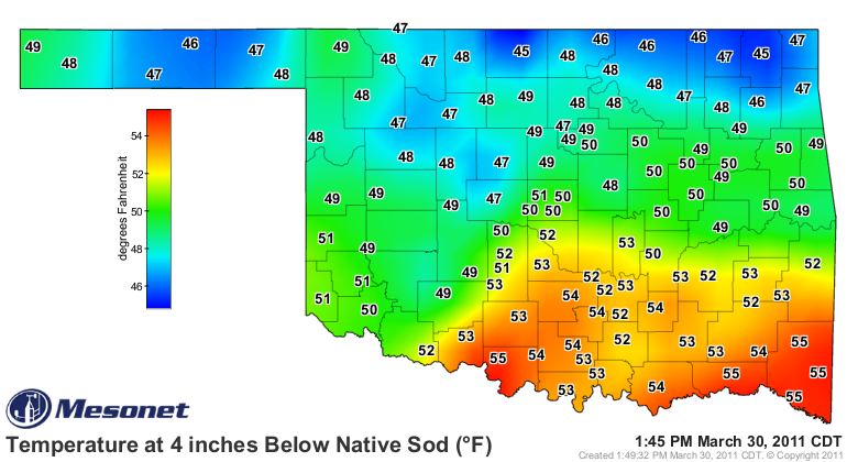 A Look at Soil Temperatures, Warmer Weather on the Way.