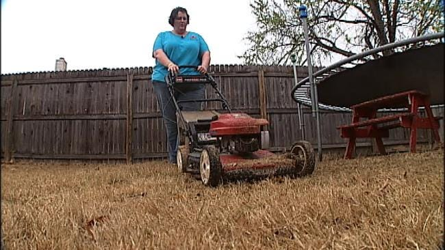 Tulsa Woman Finds Second Career In Mowing Lawns