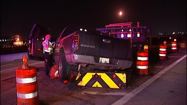 Two Flee Pickup Truck Crash On Downtown Tulsa Highway