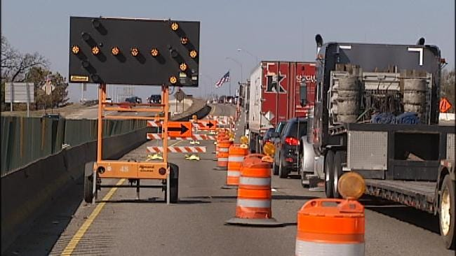 Expect Lane Closures On Westbound I-44 Near U.S. Highway 75 Junction