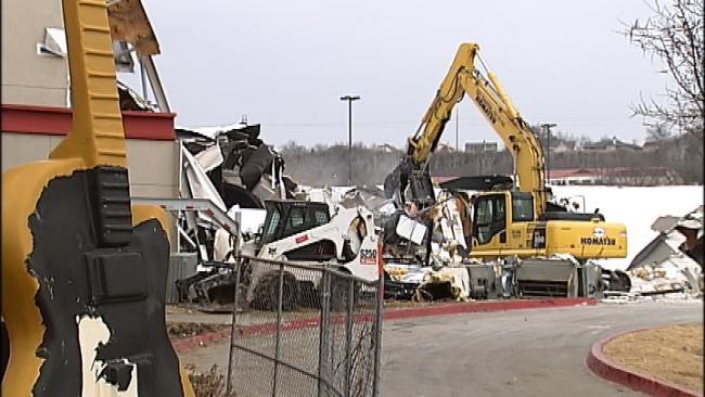 Demolition Begins On Hard Rock Casino's Bingo Hall Damaged In Snow Storm