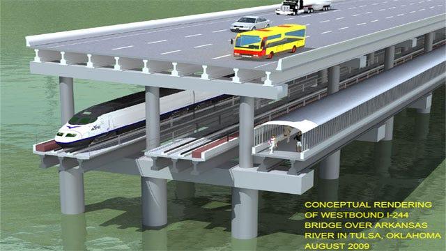 New Double Deck Bridge Over Tulsa's Arkansas River Approved