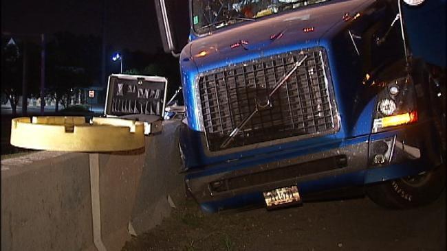 Semi Crashes On I-44 At Peoria Closing Westbound Lanes