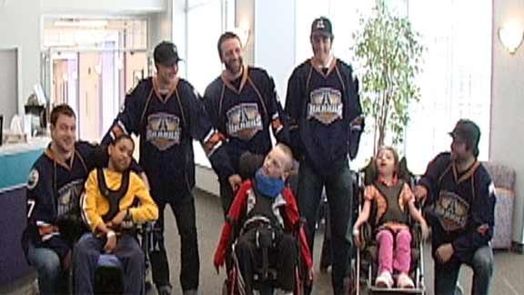 Barons Visit Children's Center Patients