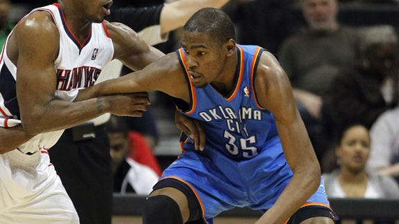 Durant's Ankle Not a Problem in Win against Hawks