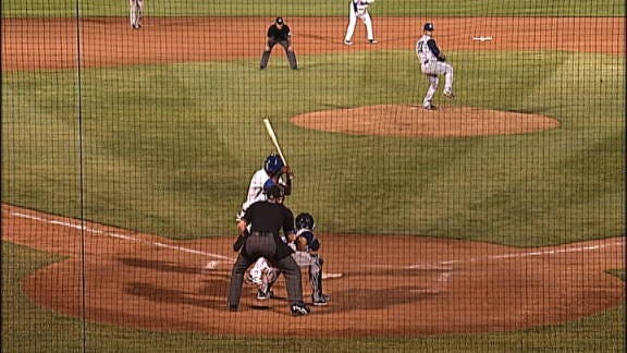 Hector Gomez's 3-Run Triple Earns Win for Drillers