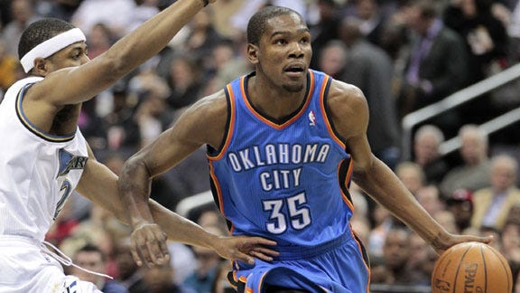 OKC's Kevin Durant Named Player of Week