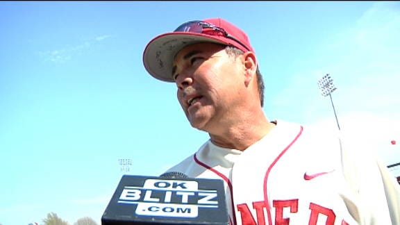 Oklahoma Players and Coaches Talk about Bedlam Baseball