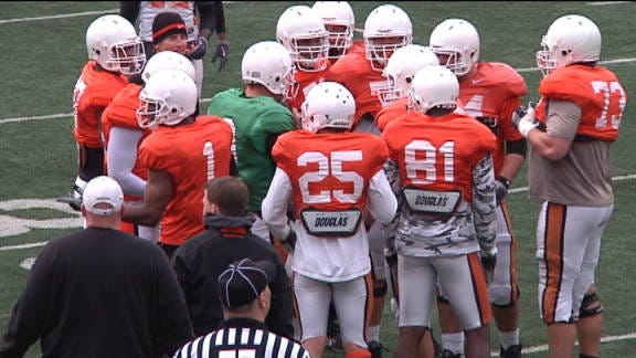 OSU Football Holds First Scrimmage