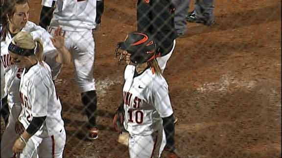 OSU Softball Blows Out Nicholls State in Home Run Parade