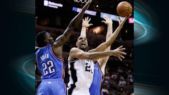Spurs Outlast Thunder in High-Scoring Contest