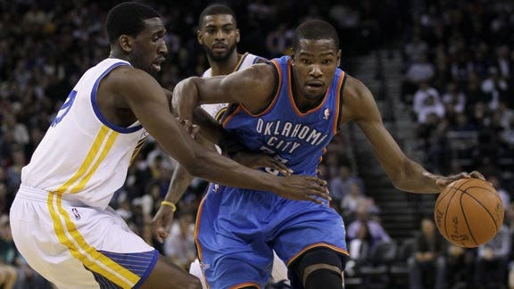 Thunder Can't Keep Up with Golden State Pace