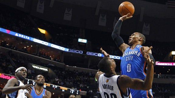 Thunder Comeback Not Enough to Stop Memphis