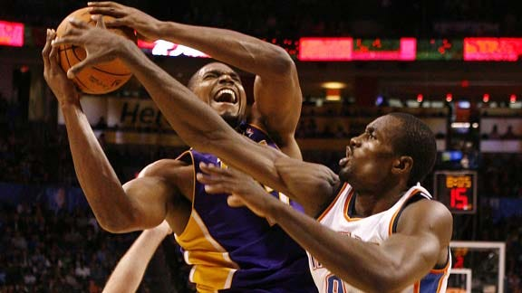 Thunder Drops Heartbreaker to Lakers
