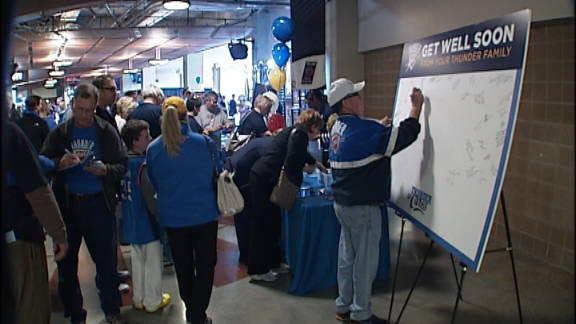 Thunder Fans Raise Money for Paralyzed Officer