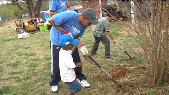 Thunder Players and Coaches Remodel Home