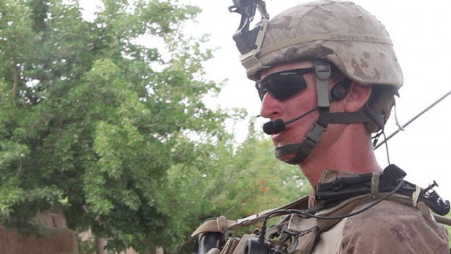 Oklahoma Marine Serves as Role Model for Squad In Afghanistan