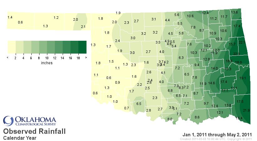 Quite a Contrast Across Oklahoma!