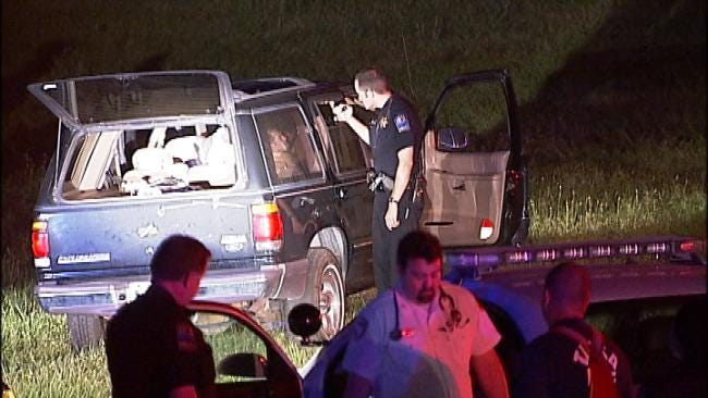 Tulsa Police Chase Ends With Crash, Arrests