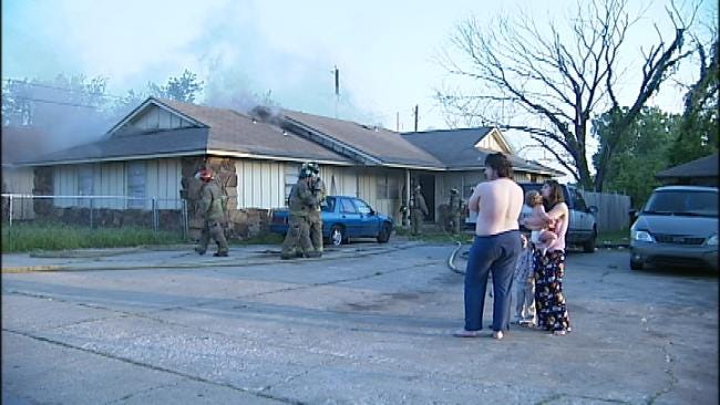 Residents Of A Tulsa Duplex Wake Up To Flames, Smoke
