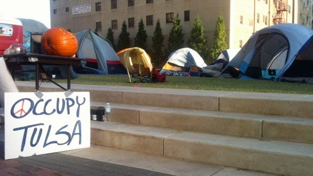 City Shuts Off Power At Scene Of 'Occupy Tulsa' Protest