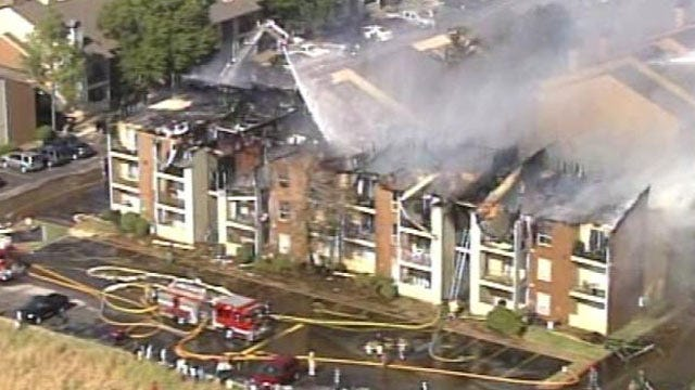 Tulsa Apartment Fire Destroys Building, Displaces More Than 100 Residents