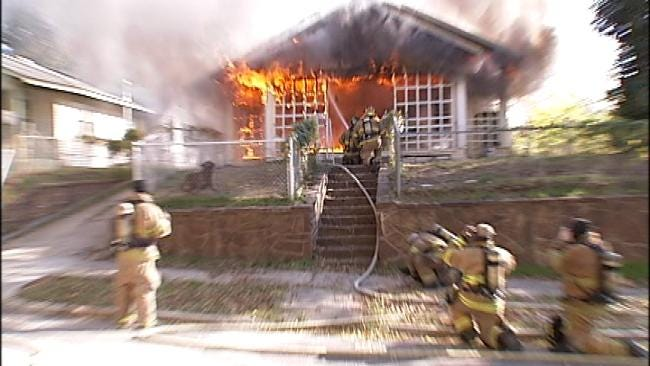 Second West Tulsa House Catches On Fire