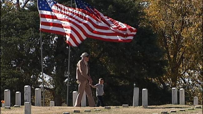 Help Veterans Raise Flags At Fort Gibson National Cemetery