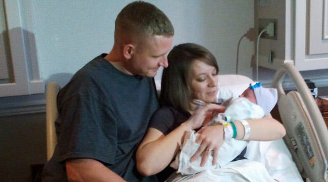 Tulsa Baby Girl Born 11/11/11 at 11:11 A.M. To Marine And Wife
