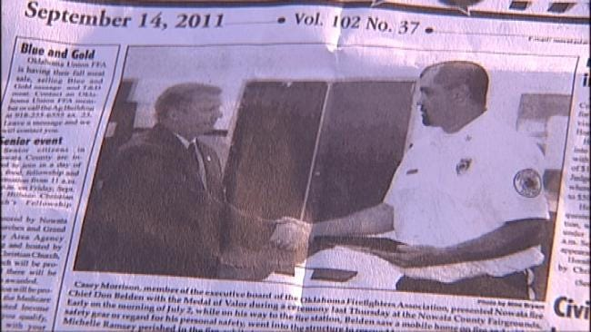 Nowata Protesters Upset Over Dismissal Of Fire Chief