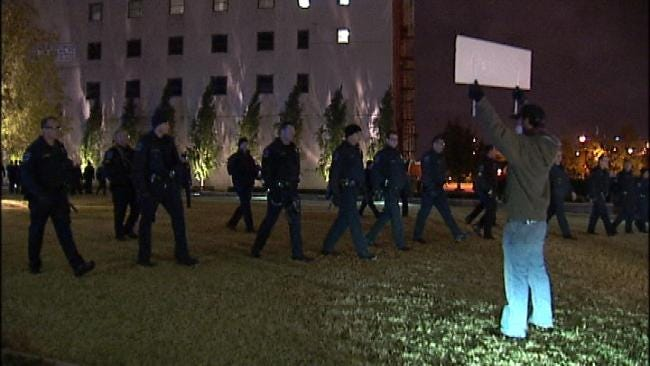 13 Protesters Arrested At Occupy Tulsa Late Wednesday