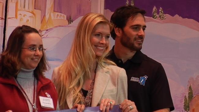 NASCAR Star Jimmie Johnson, Muskogee-Born Wife Give Back To Oklahoma