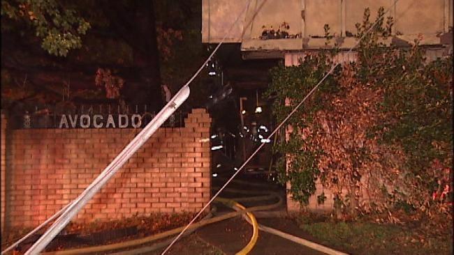 Suspicious Fire Damages Abandoned Tulsa Apartment Complex