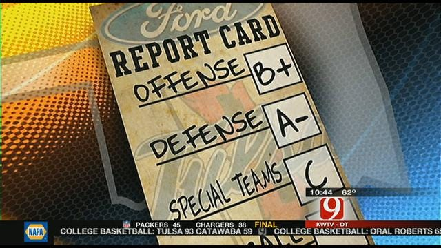 Tulsa Report Card Against UCF