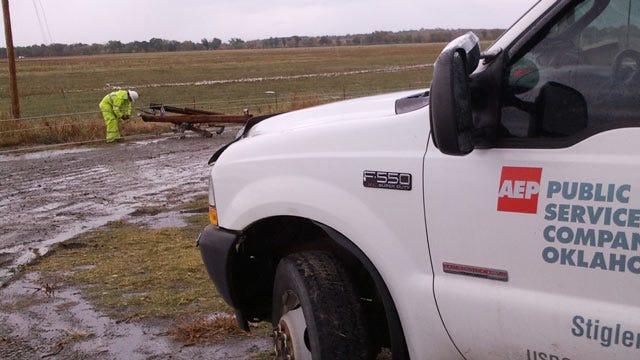 Haskell County Storm Damage Closes Kinta Schools, Destroys Barn