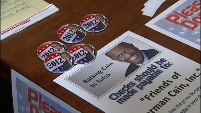 Hundreds Of Herman Cain Supporters Gather In Bixby