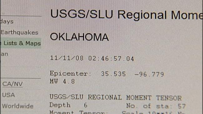 Rumble Only Predictor Of Oklahoma Earthquakes - For Now