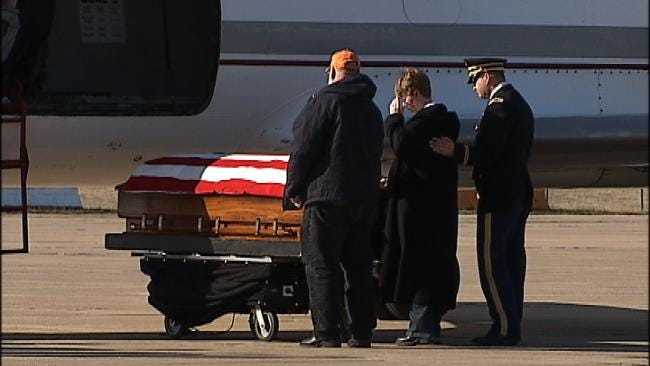 Body Of Fallen Oklahoma Soldier Returns Home In Solemn Ceremony