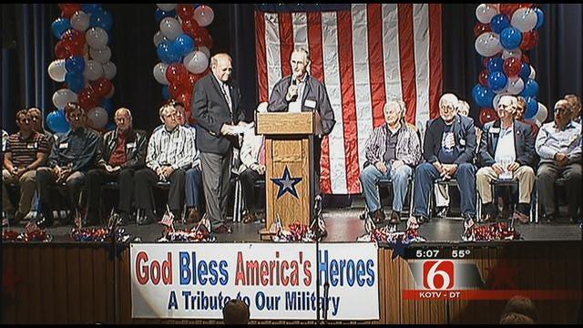 Tulsa School Gets A Jump Start On Veterans Day
