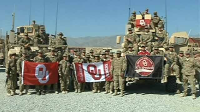 45th Infantry Brigade Sends Gameday Shout Out To Sooners