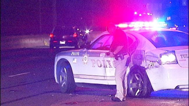 Driver Cited For DUI After Hitting Tulsa Police Car