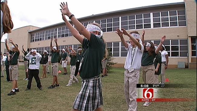 Tulsa Students Take Part In Japan's Health And Sport Day