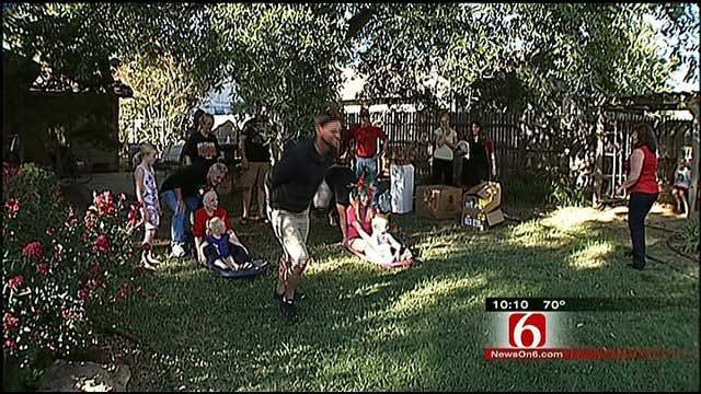 Broken Arrow Marine's Family Celebrates Christmas In October