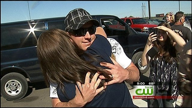 Marines Return To Tulsa From Afghanistan