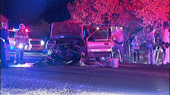 Tulsa County Deputy, Three Others Injured In Collision
