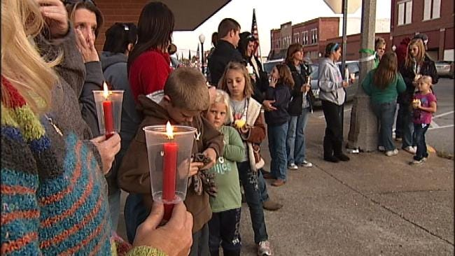 Chelsea Residents Hold Vigil For Soldier Who Lost Wife, Daughter